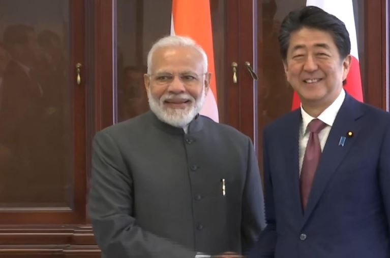Prime Minister Narendra Modi meets his Japanese counterpart Shinzo Abe