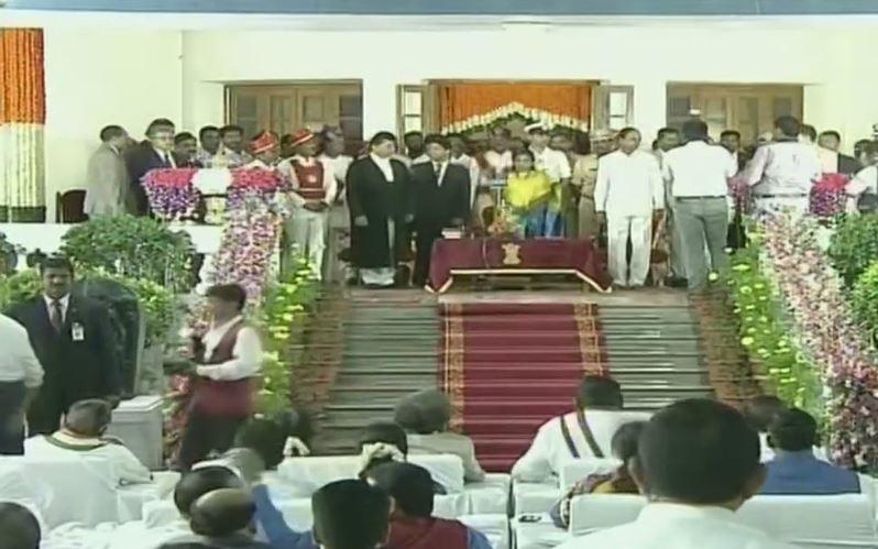 Tamilisai Soundararajan takes oath first woman Governor of Telangana