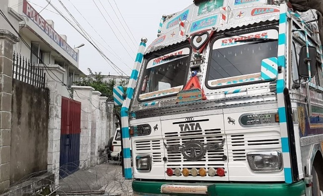 Truck seized by Jammu and Kashmir police in Kathua