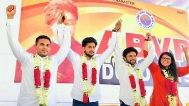 ABVP wins three seats and NSUI wins one