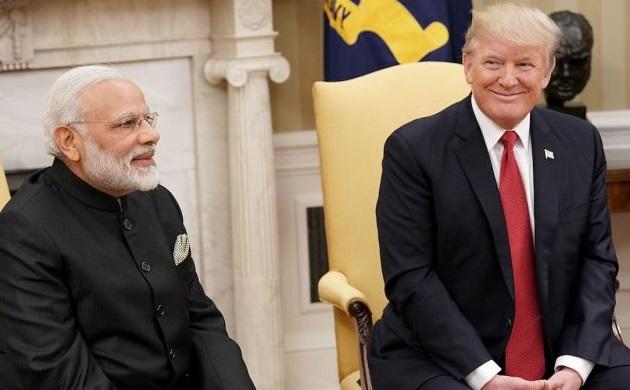 US President Donald Trump with Prime Minister Narendra Modi
