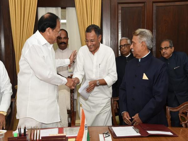 BJP member Sanjay Seth took oath of affirmation in Rajya Sabha on Thursday