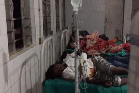 43 people were hospitalised