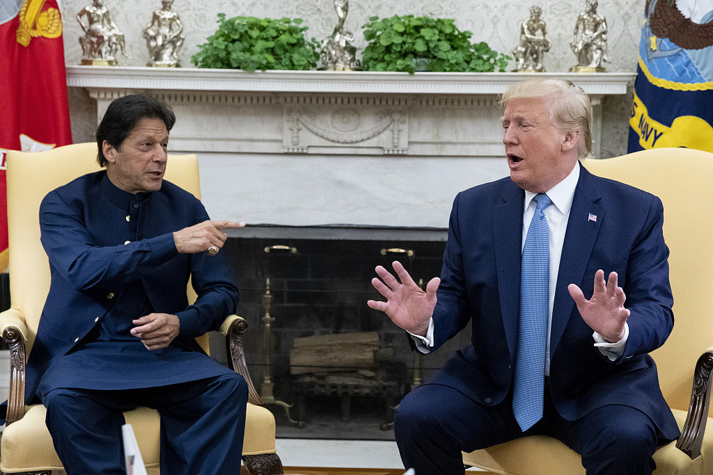 Pakistan Prime Minister Imran Khan and US President Donald Trump
