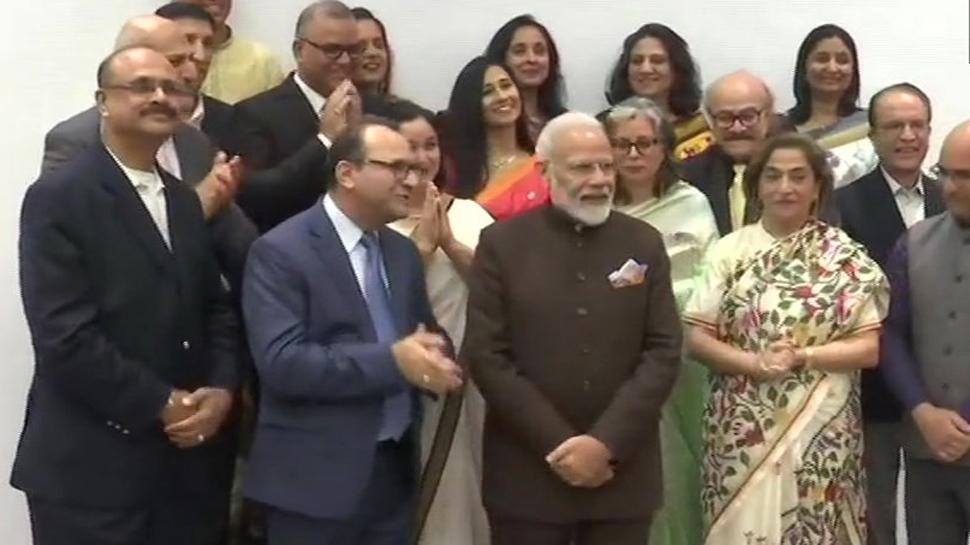 Prime Minister Narendra Modi met a delegation of Kashmiri Pandits community in Houston