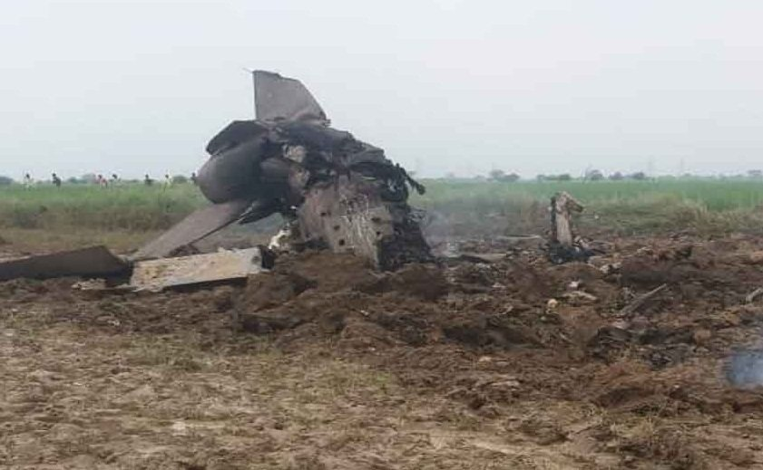 IAF MiG-21 crashes in Gwalior