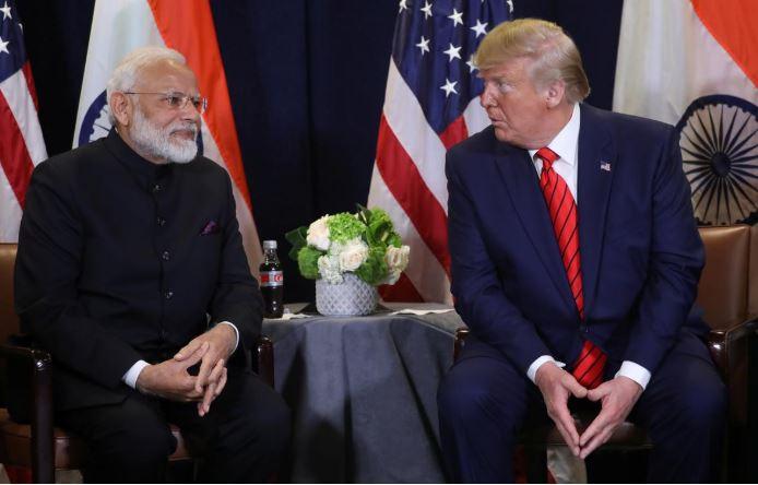 US President Donald Trump and India's Prime Minister Narendra Modi