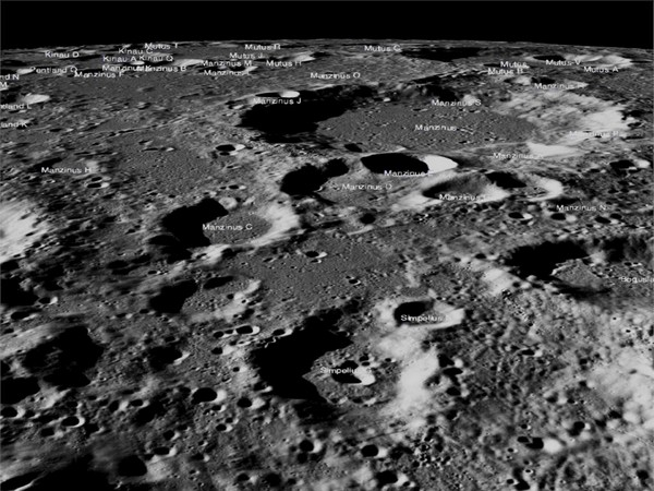 Images of the lunar surface where Chandrayaan-2's Vikram lander was scheduled to make a soft landing