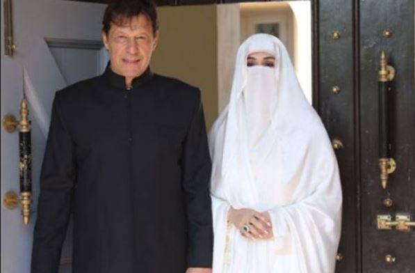 Pak PM Imran Khan with Wife Bushra Bibi