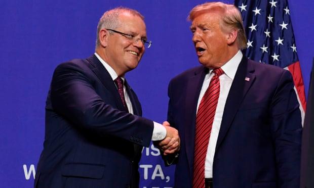 U.S. President Donald Trump and Australian PM Scott Morrison