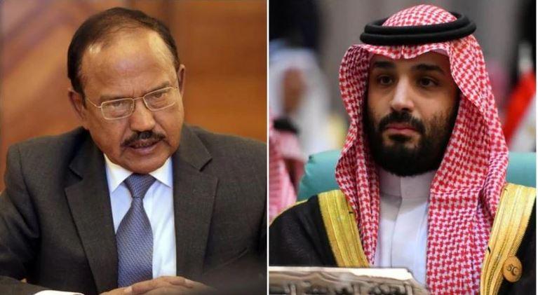 National Security Advisor Ajit Doval and Saudi Crown Prince Mohammed Bin Salman