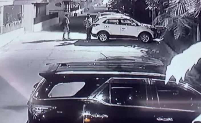 A grab from the CCTV footage of the incident