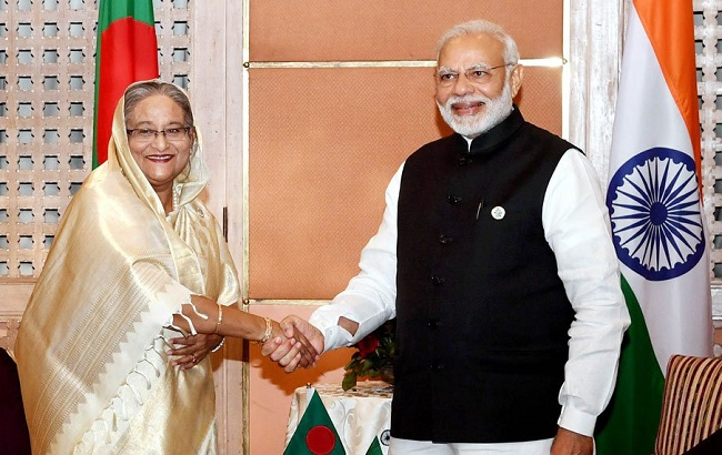Prime Minister Narendra Modi and Bangladesh counterpart Sheikh Hasina
