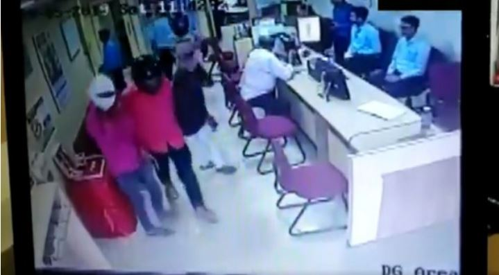 The entire incident was caught on CCTV camera