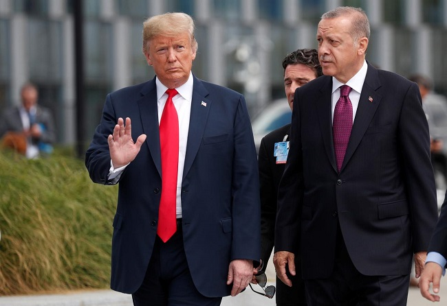 US President Donald Trump and Turkish counterpart Tayyip Erdogan