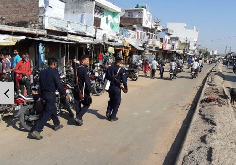 Malpura – Curfew was relaxed for two hours.