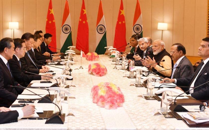 Prime Minister Narendra Modi during the delegation-level talks in Tamil Nadu on Saturday