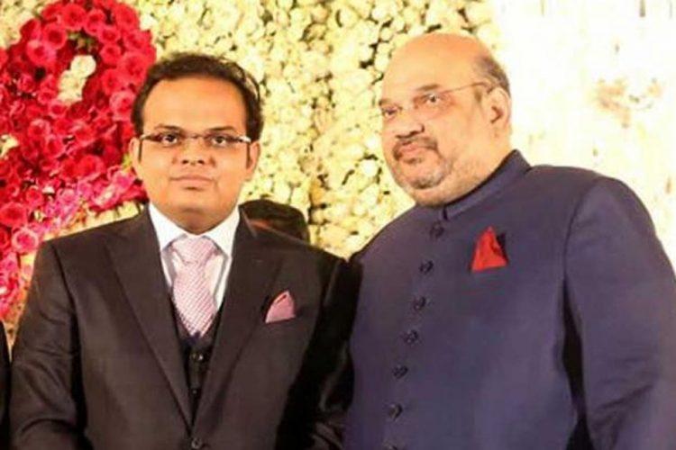 Amit Sha with his son Jay Shah