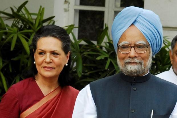 Congress interim president Sonia Gandhi and former Prime Minister Manmohan Singh