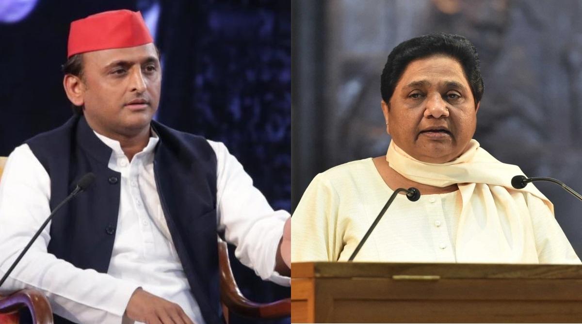 Samajwadi Party Chief Akhilesh Yadav and BSP Supermo Mayawati (File Photo)