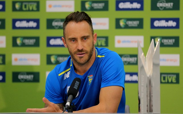 South Africa skipper Faf du Plessis