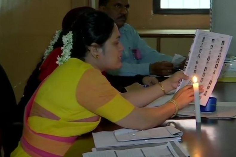 Power cut at a polling booth in Pune's Shivaji Nagar