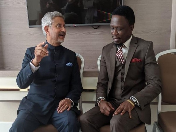 External Affairs Minister S Jaishankar in conversation with Ababu Namwamba, Deputy Foreign Minister of Kenya
