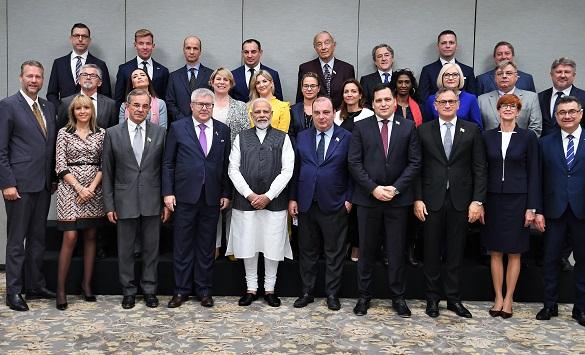 Prime Minister Narendra Modi meets EU delegation