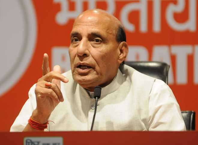 Union Defence Minister Rajnath Singh