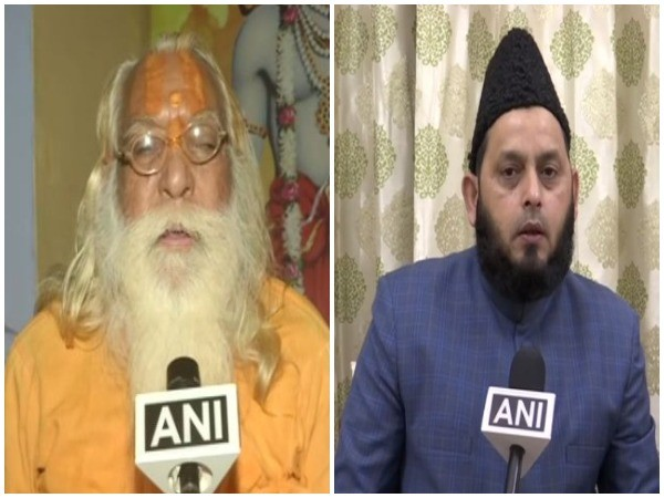 Satyendra Das, head priest of the makeshift Ram temple, Ayodhya (L), Khalid Rasheed AIMPLB (R), talking to ANI on Saturday