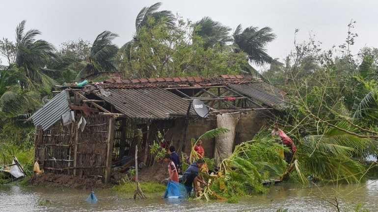 A visual of cyclone-affected areas