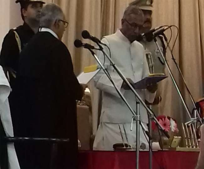 Justice Sanjay Karol taking oath as Chief Justice of the Patna High Court