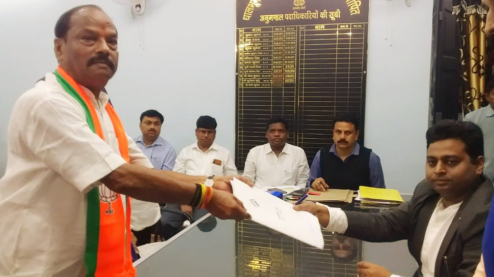 Jharkhand Chief Minister Raghubar Das files