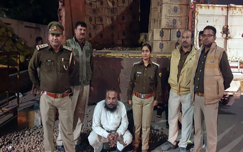 The accused with the Sahibabad police