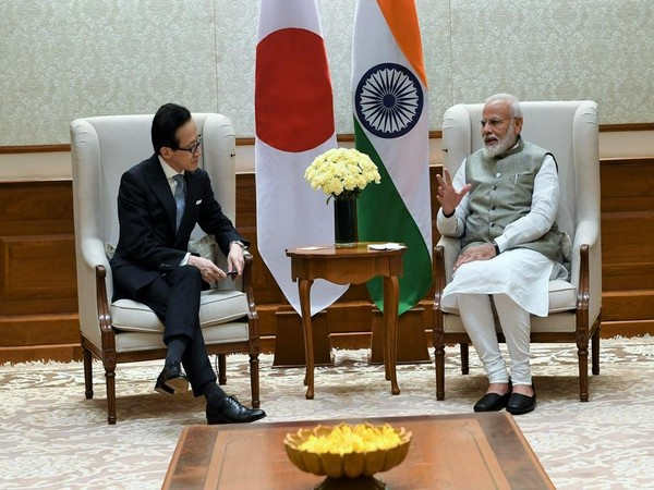 Prime Minister Narendra Modi with Japan's National Security Secretariat (NSS) Shigeru Kitamura in New Delhi on Tuesday