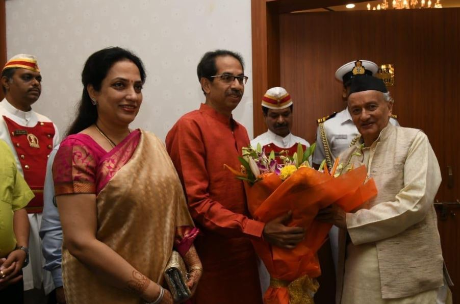 Shiv Sena chief and Chief Minister-designate Uddhav Thackeray on Wednesday morning met Governor Bhagat Singh Koshyari at Raj Bhawan in Mumbai