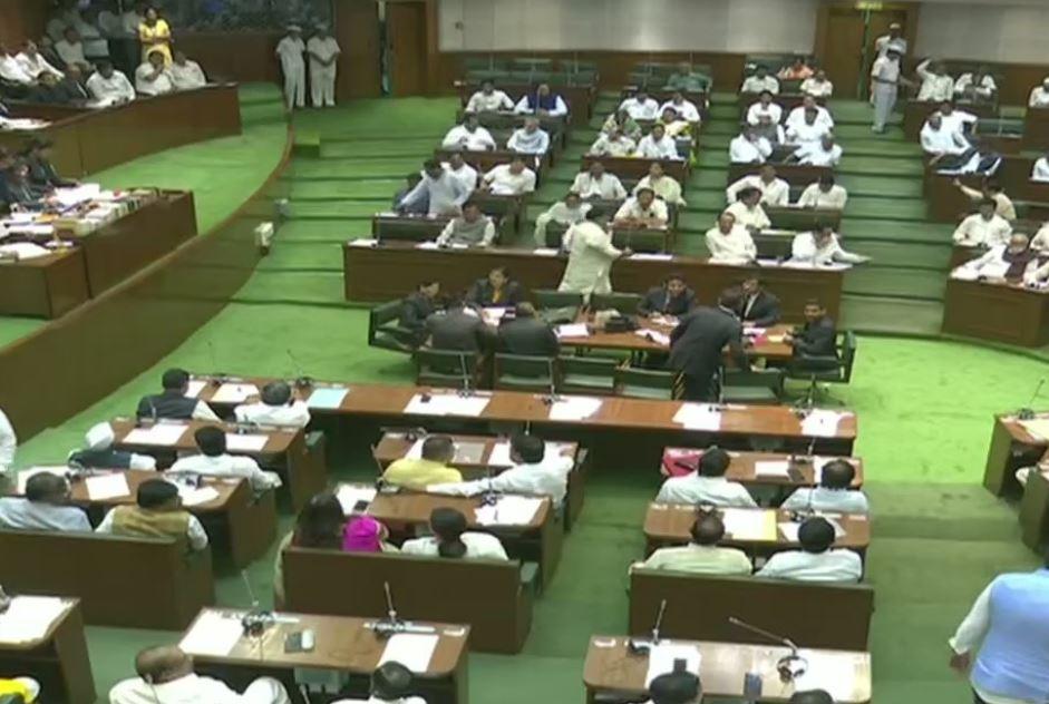 Visual from Maharashtra Assembly on Wednesday
