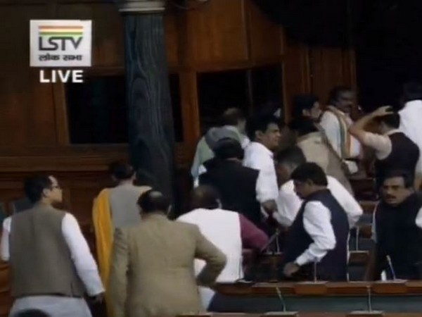 Congress MPs staged walkout from Lok Sabha on Thursday