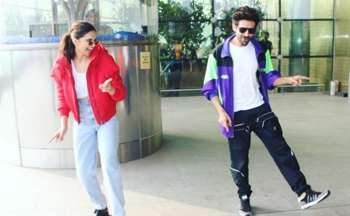 Deepika Padukone with  Kartik Aaryan