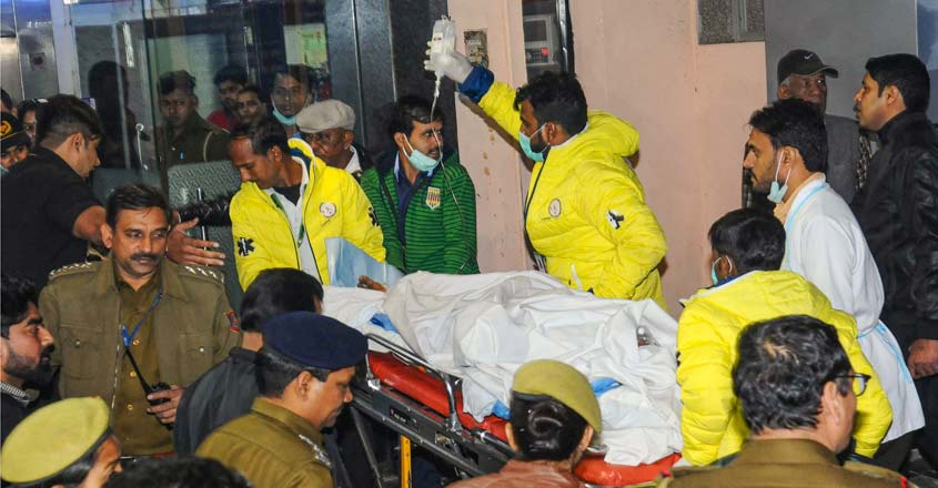 She was brought to Delhi in an air ambulance Thursday evening.