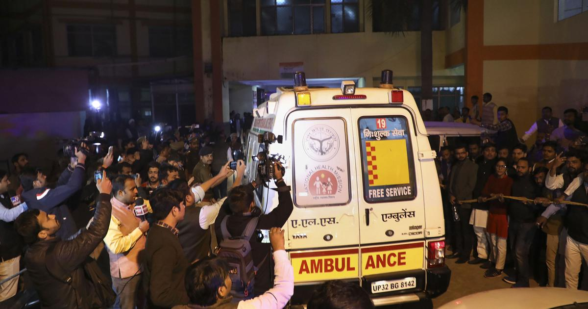 Unnao Victim brought to hospital
