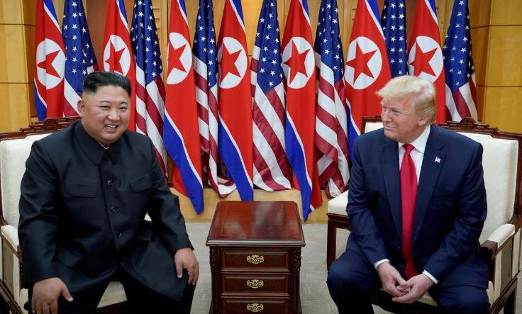North Korean leader Kim Jong Un and USA President Donald Trump