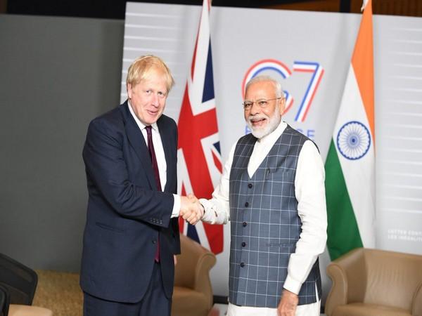 Prime Minister Narendra Modi and Boris Johnson