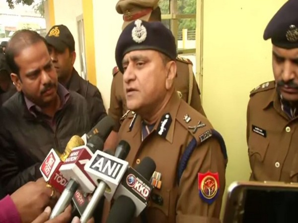UP DGP OP Singh speaking to media in Lucknow