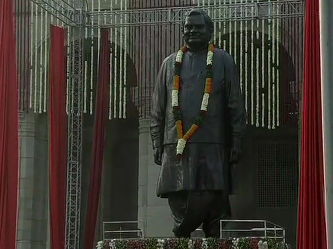 The statue of former Prime Minister Atal Bihari Vajpayee unveiled Lok Bhawan