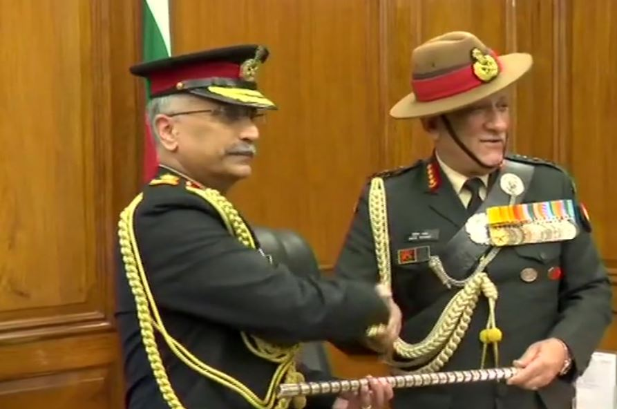 General Manoj Mukund Naravane takes charge as the Chief of Army Staff