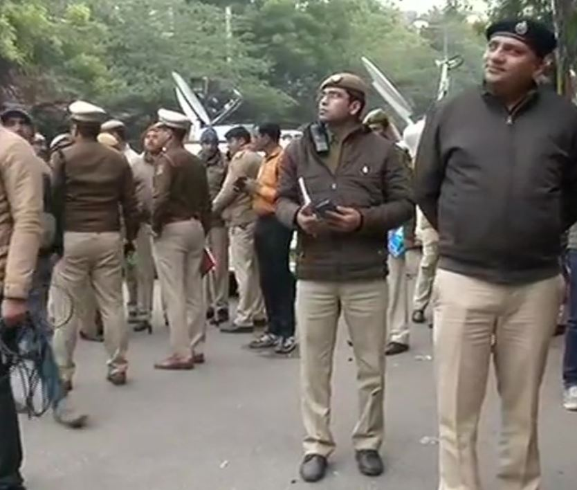 Heavy security at JNU after violence on campus