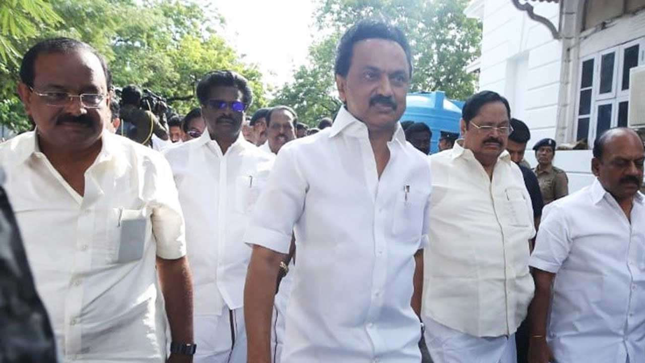 DMK president MK Stalin walks out of state Assembly