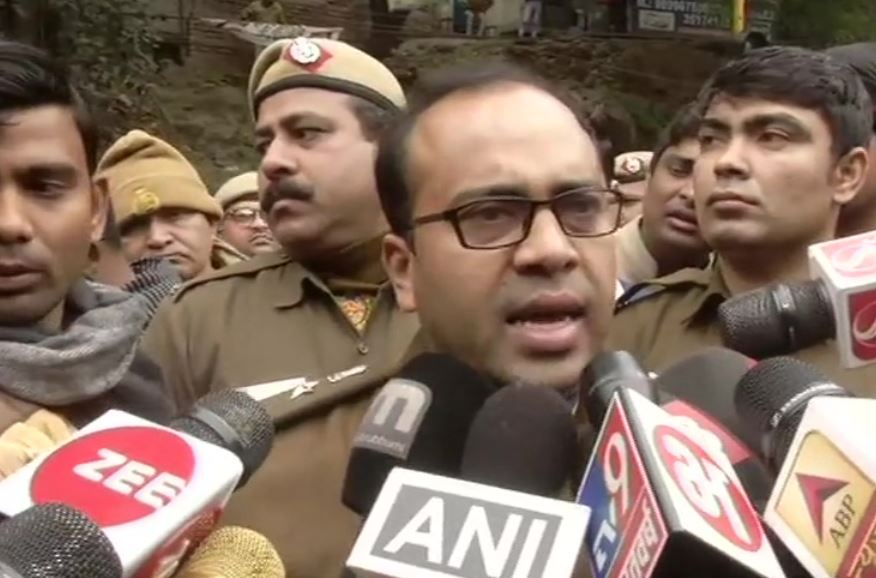 Deputy Commissioner of Police (Southwest) Devender Arya speaking to reporters in New Delhi on Tuesday