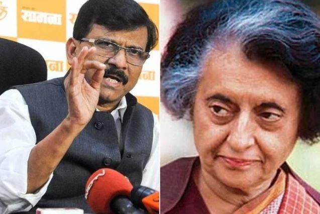 Sanjay Raut and Indira Gandhi